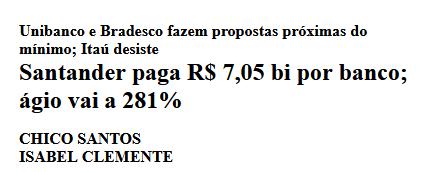 Reportagem Santander